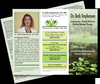 Dr. Beth's brochure